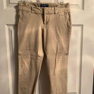 Khaki Old navy pixie style pants